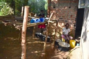 The Water Project: Ibokolo Primary School -  Working Outside The Kitchen