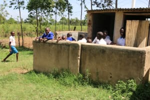 The Water Project: St. Benedict Emutetemo Primary School -  Boys At Their Latrines
