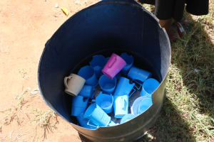 The Water Project: St. Benedict Emutetemo Primary School -  Dishes Drying