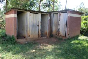 The Water Project: St. Benedict Emutetemo Primary School -  Girls Latrines