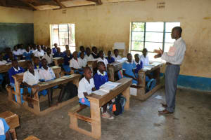 The Water Project: St. Benedict Emutetemo Primary School -  Students In Their Classroom