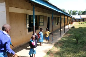 The Water Project: St. Benedict Emutetemo Primary School -  Pupils Outside The Classrooms