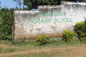 The Water Project: Emachina Primary School -  Sign At School Entrance