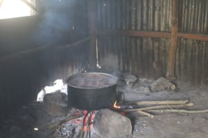 The Water Project: Emachina Primary School -  Cooking Inside The Kitchen