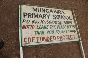 The Water Project: Mungabira Primary School -  Sign