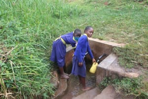 The Water Project: Mungabira Primary School -  Students Fetching Water