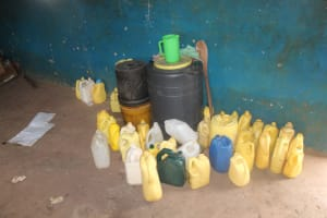 The Water Project: Mungabira Primary School -  Water Storage Containers