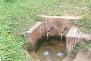 The Water Project: Mungabira Primary School -  Off Campus Spring Water Source