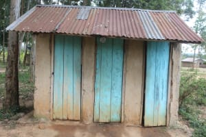 The Water Project: Petros Primary School -  Girls Latrines