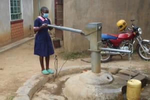 The Water Project: Petros Primary School -  Hellen Fetching Water