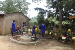 The Water Project: Petros Primary School -  Students Collecting Water