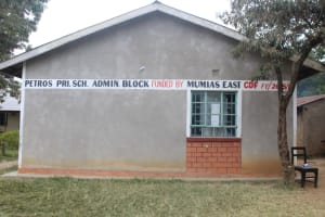 The Water Project: Petros Primary School -  Administration Block With School Sign