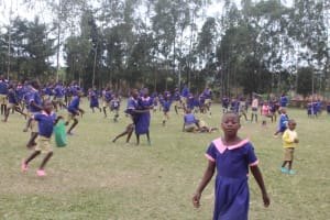 The Water Project: Petros Primary School -  Students On The Playground