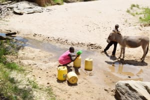 The Water Project: Nduumoni Community C -  Fetching Water