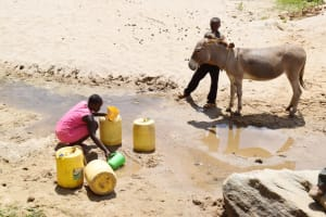 The Water Project: Nduumoni Community C -  Filling Up Container With Water