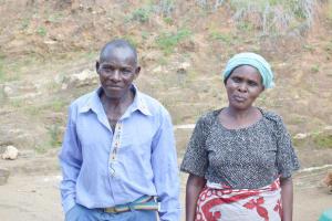 The Water Project: Nduumoni Community C -  Francis Kivuva And His Wife