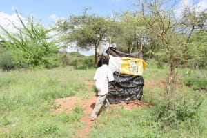 The Water Project: Yathui Community -  Walking To Latrine