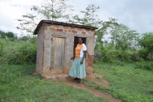 The Water Project: Yathui Community A -  Standing At The Latrine