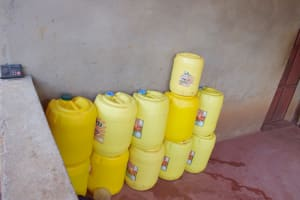 The Water Project: Yathui Community A -  Water Containers Inside