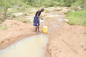 The Water Project: Kitile B Village Well -  Fetching Water