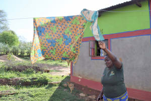 The Water Project: Kitile B Village Sand Dam -  Clothesline