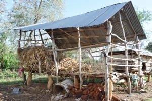 The Water Project: Kitile B Village Sand Dam -  Granary