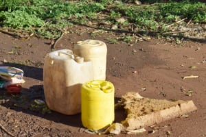 The Water Project: Kitile B Village Sand Dam -  Water Storage Container