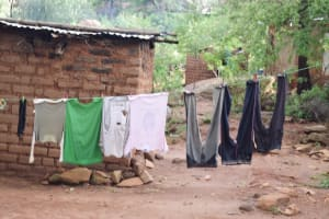 The Water Project: Kitile B Village Well -  Clothes Line