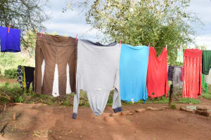 The Water Project: Kitile B Village Well -  Clothesline