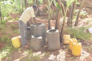 The Water Project: Ivumbu Community B -  Water Storage