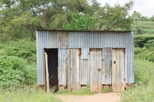 The Water Project: Mbiuni Primary School -  Girls Latrines