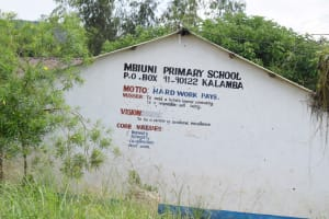 The Water Project: Mbiuni Primary School -  School Sign