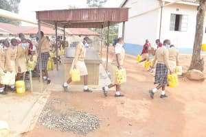 The Water Project: Nzeluni Girls Secondary School -  Carrying Water