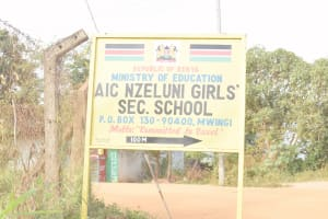 The Water Project: Nzeluni Girls Secondary School -  School Sign