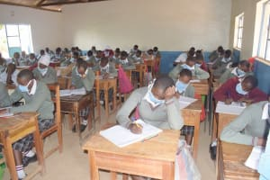 The Water Project: Nzeluni Girls Secondary School -  Students In Class