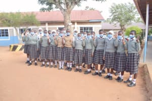 The Water Project: Nzeluni Girls Secondary School -  Students Outside