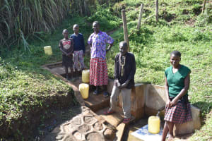 The Water Project: Ataku Community, Ngache Spring -  At The Spring