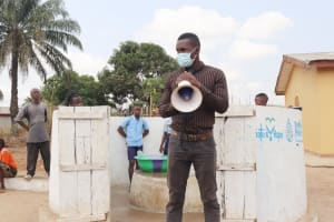 The Water Project: Sulaiman Memorial Academy Jr. Secondary School -  Osman Fofanah Of Ministry Of Water Resources Making Statement