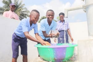 The Water Project: Sulaiman Memorial Academy Jr. Secondary School -  Students Celebrating