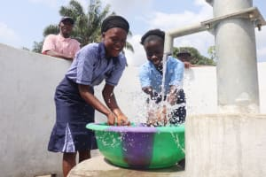 The Water Project: Sulaiman Memorial Academy Jr. Secondary School -  Celebrating And Splashing Water