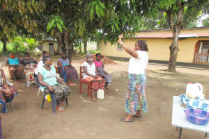 The Water Project: Lungi, Suctarr, #3 Lovell Lane -  Disease Transmission Through Handshaking Lesson