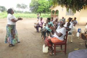 The Water Project: Lungi, Suctarr, #3 Lovell Lane -  Hygiene Facilitator Teaches Proper Handwashing
