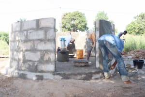 The Water Project: Lungi, Suctarr, #3 Lovell Lane -  Pad Construction