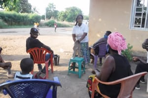 The Water Project: Lungi, Suctarr, #3 Lovell Lane -  Hygiene Facilitator Teaching About Diarrhea
