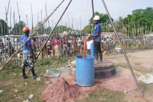 The Water Project: Kamasondo, Borope Village School -  Bailing