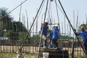The Water Project: Kamasondo, Borope Village School -  Drilling