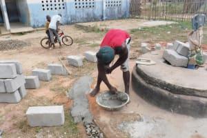 The Water Project: Kamasondo, Borope Village School -  Pad Construction