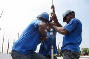 The Water Project: Kamasondo, Borope Village School -  Pump Installation