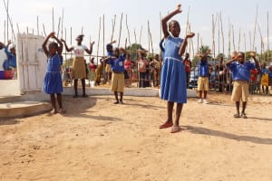 The Water Project: Kamasondo, Borope Village School -  Students Celebrating For Clean And Safe Drinking Water Provide For Them
