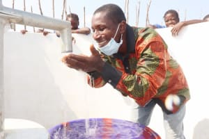 The Water Project: Kamasondo, Borope Village School -  Teacher Hppilly Drinking Water